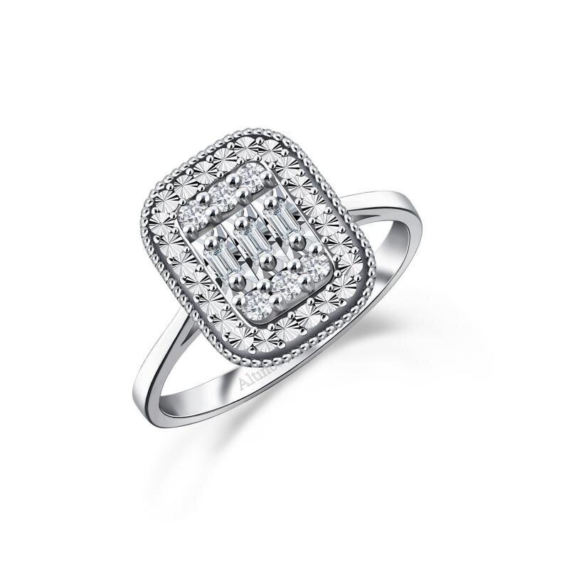 0.12 Carat Baguette Diamond Ring