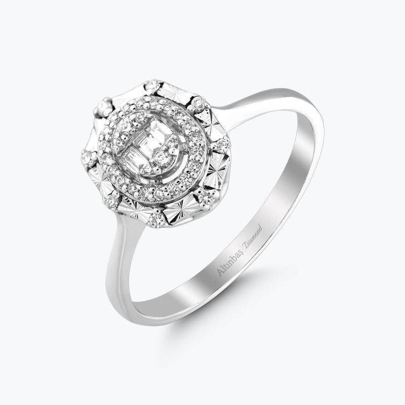 0.17 Carat Baguette Diamond Ring