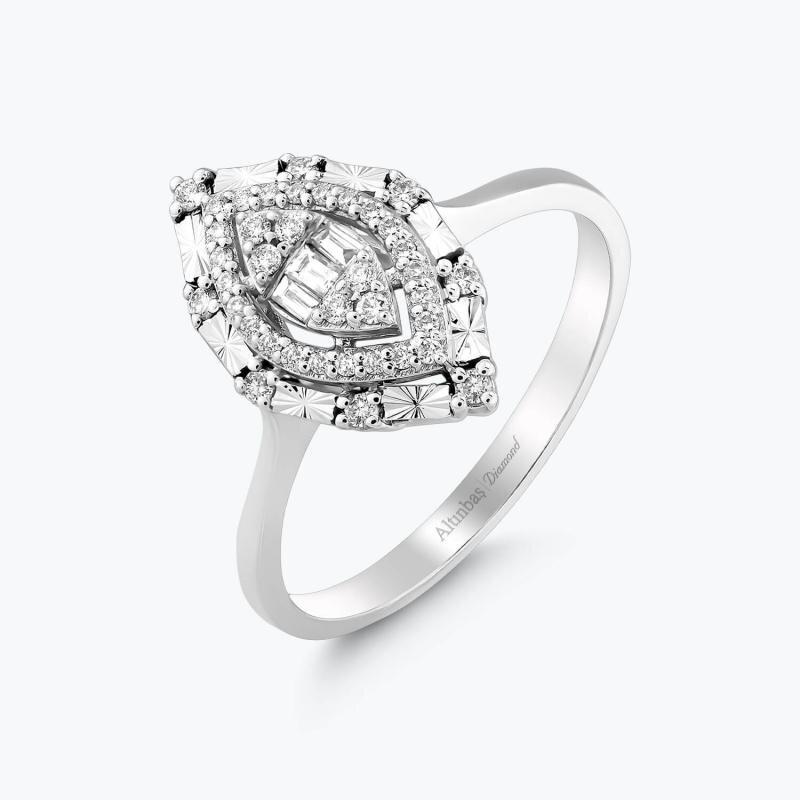 0.21 Carat Baguette Diamond Ring
