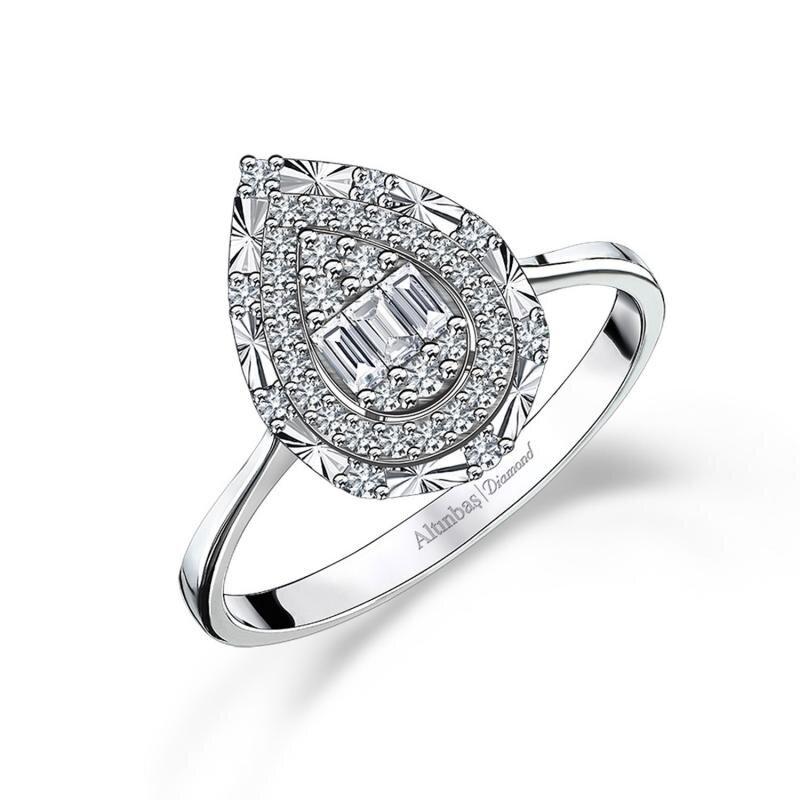 0.19 Carat Baguette Diamond Ring