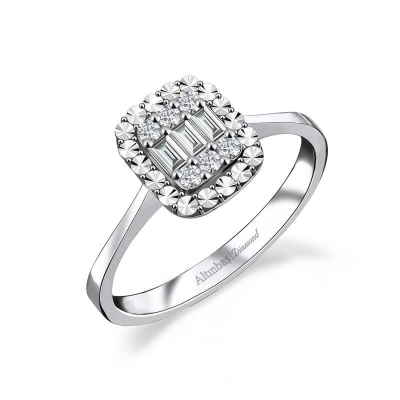0.13 Carat Baguette Diamond Ring