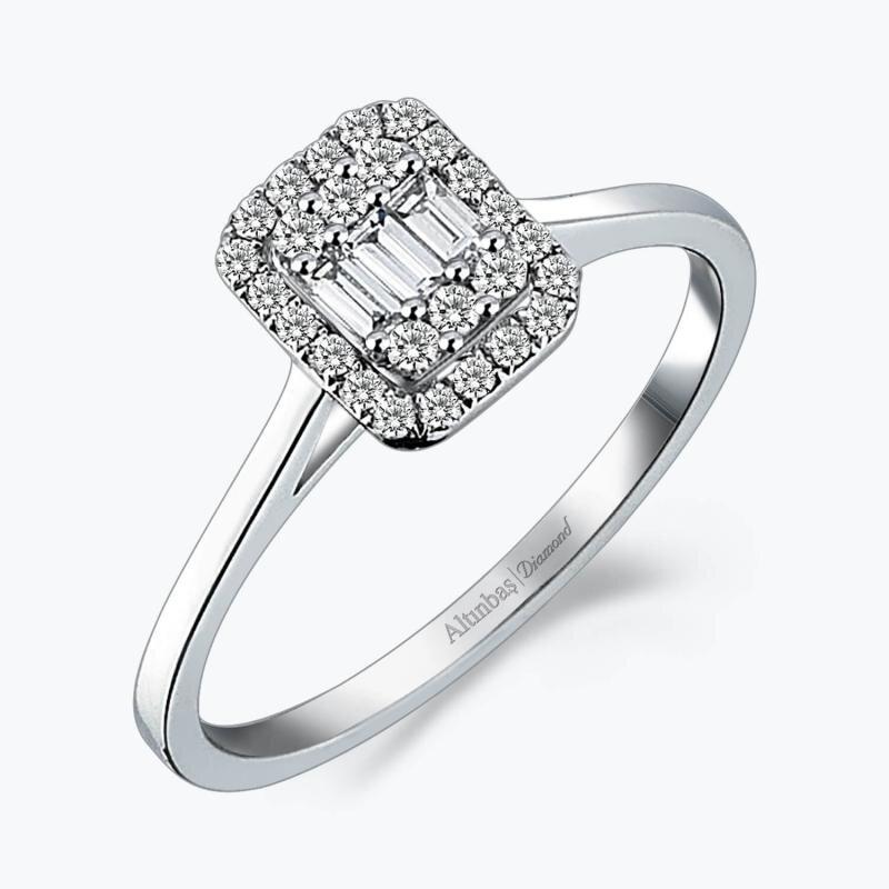 0.22 Carat Baguette Diamond Ring