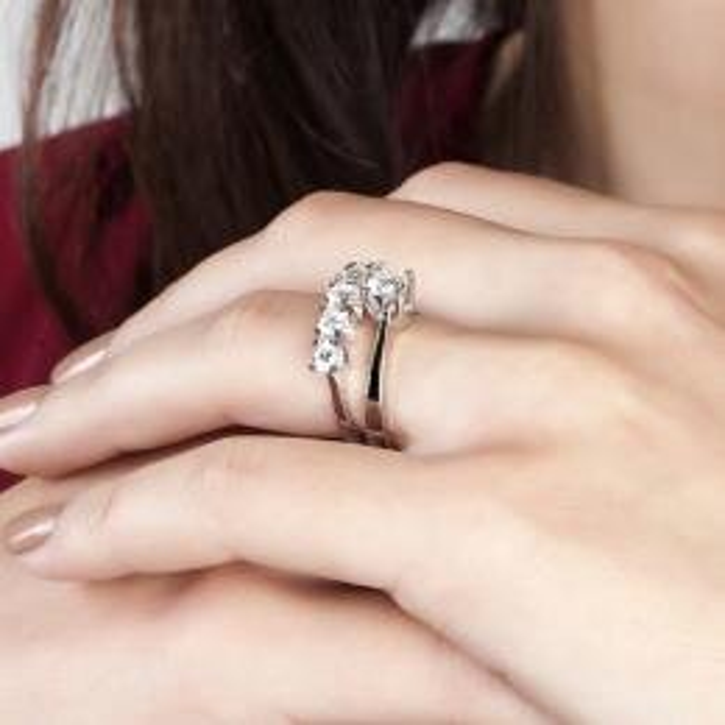 0.45 Carat Five Stone Diamond Ring