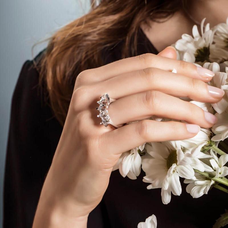 0.25 Carat Five Stone Diamond Ring