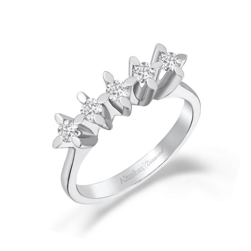 0.26 Carat Five Stone Diamond Ring