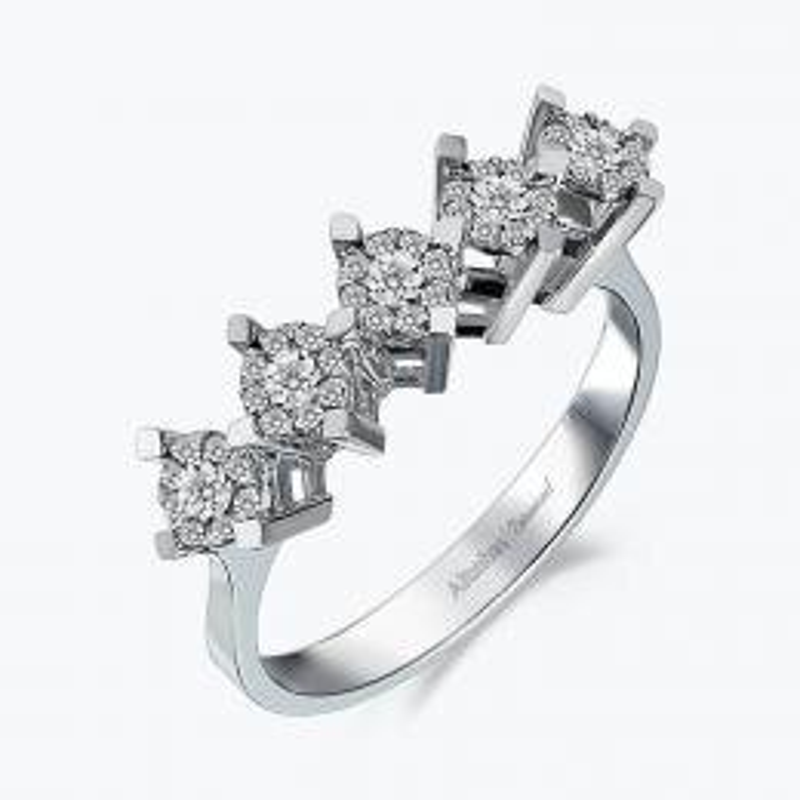 0.21 Carat Five Stone Diamond Ring