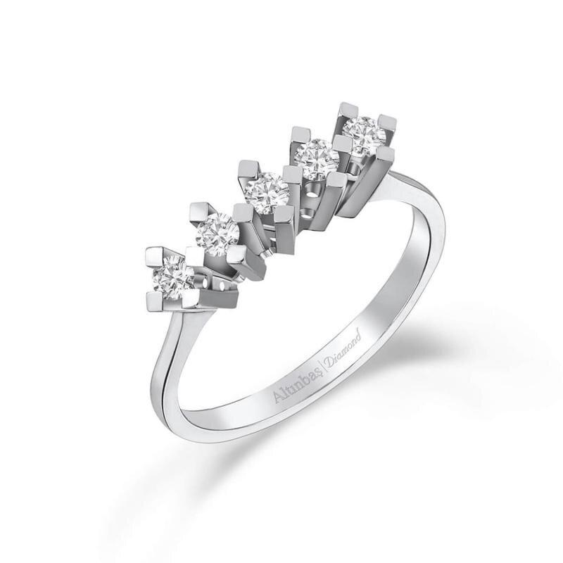 0.19 Carat Five Stone Diamond Ring