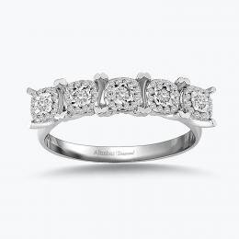 0.25 Carat Bouquet Five Stone Diamond Ring