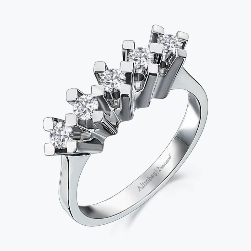 0.40 Carat Five Stone Diamond Ring