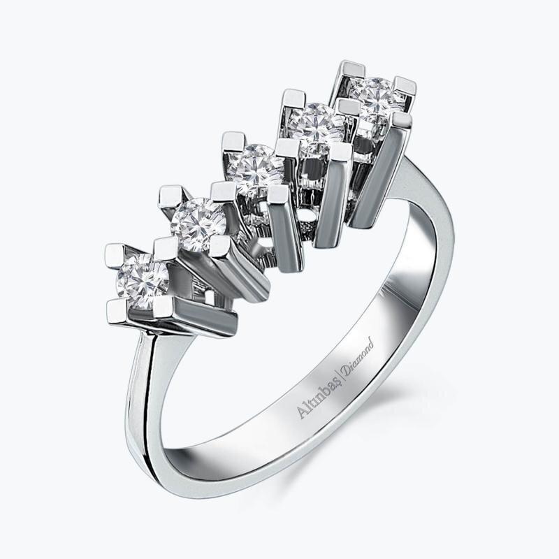 0.30 Carat Five Stone Diamond Ring