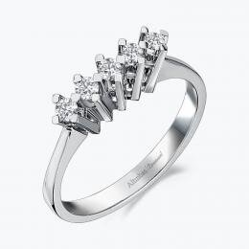 0.15 Carat Five Stone Diamond Ring