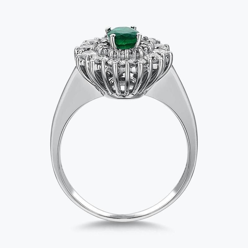 1.07 Carat Emerald Diamond Ring