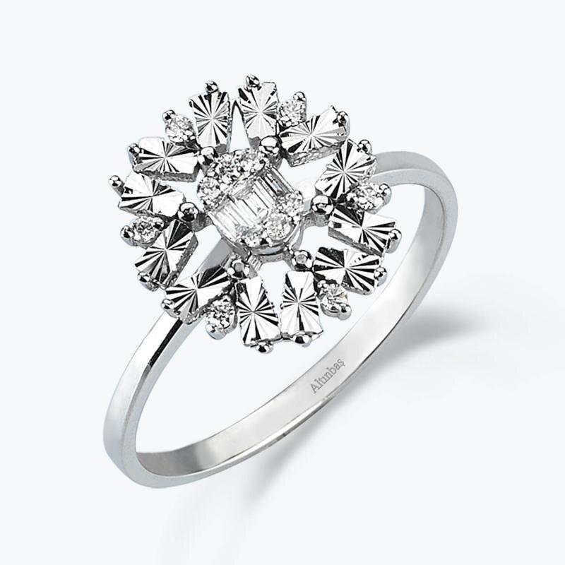 0.14 Carat Baguette Diamond Ring