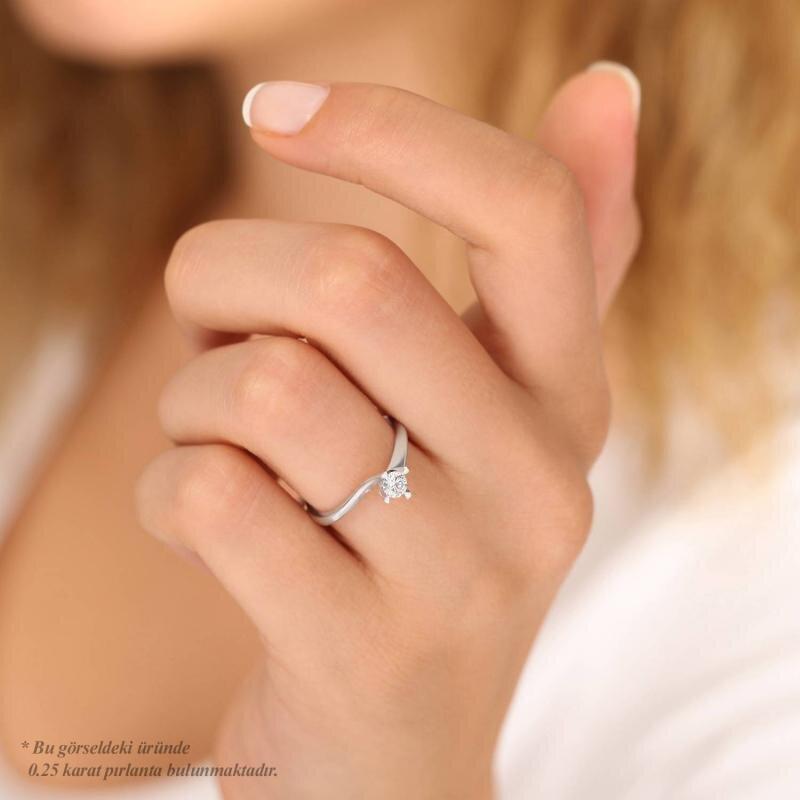 0.16 Carat Bague Diamant Solitaire
