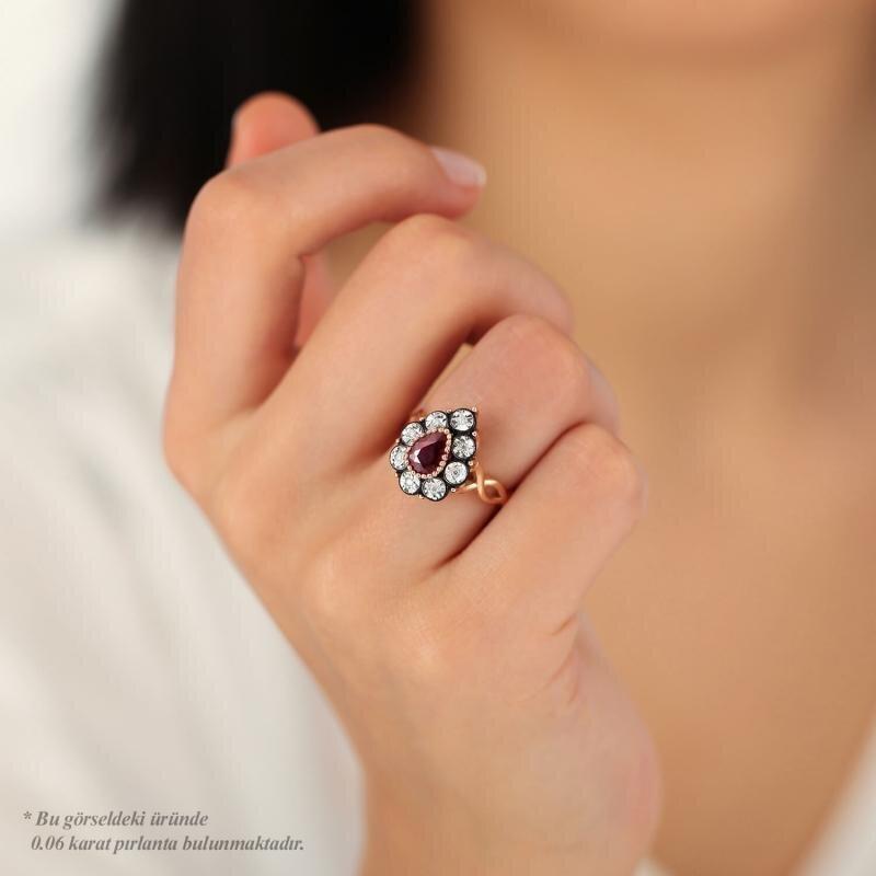 0.07 Carat Ruby Diamond Ring