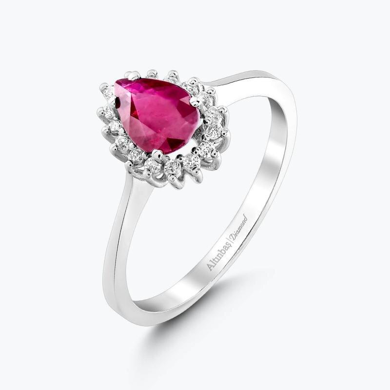 0.15 Carat Ruby Diamond Ring
